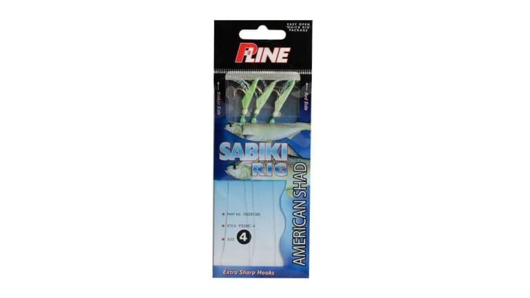 P-Line Rig Sabiki American Shad 3 Hook #4 - PSSMC-4